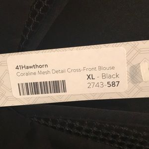 41 Hawthorn Tops - 41 Hawthorn sleeveless mesh top XL. NWT